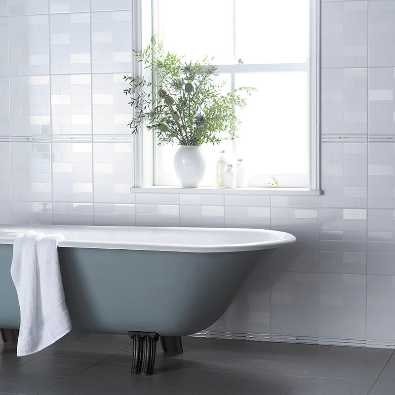homebase bathroom tiles bct white collection highgate white wall 13153