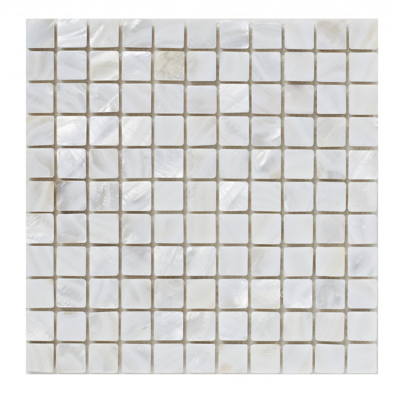 White Mother Of Pearl Mosaic 305mm X 305mm X 8mm Bct38580 The