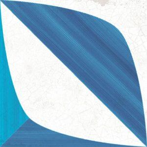 blanc bleu leaf 185x185mm
