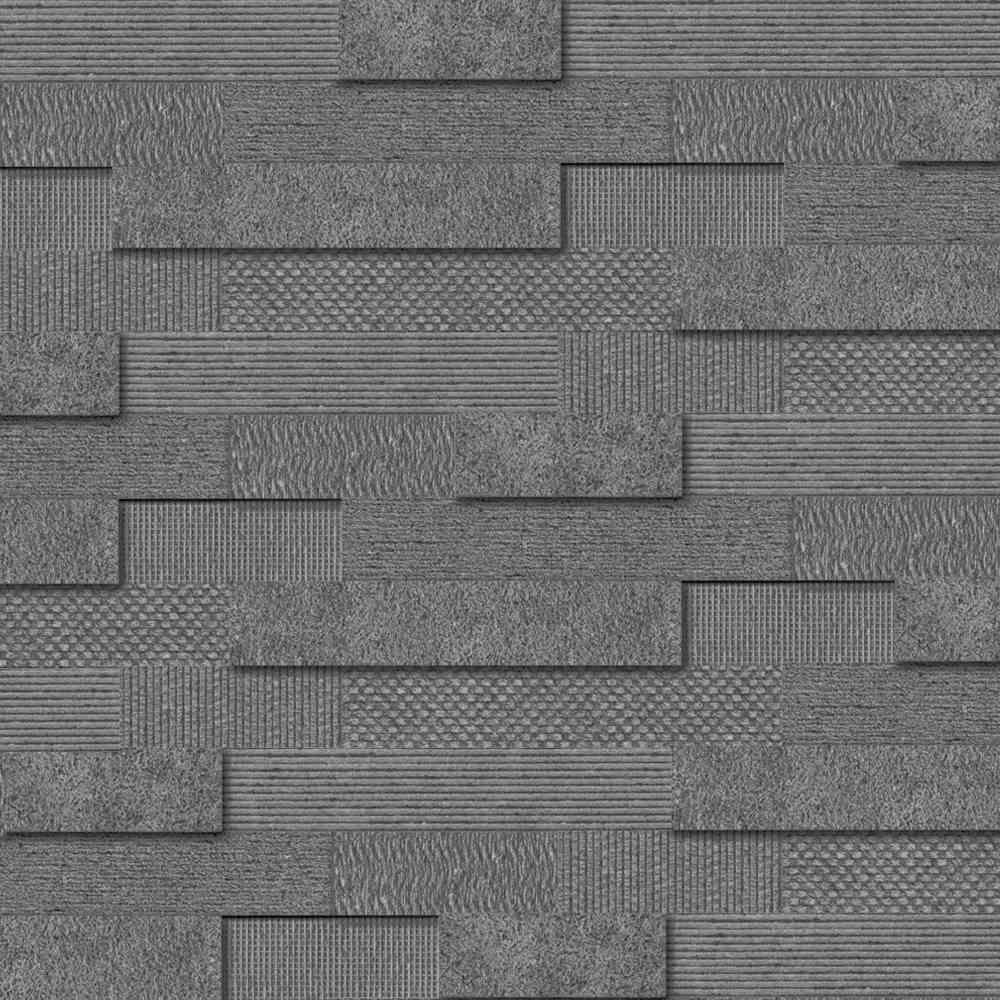 Cityscape smoke brick mosaic