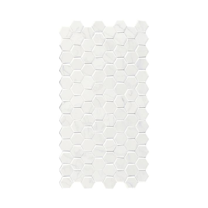 "Framed Graphite 1 Sample Piece Form 7/""x 8/"" Hexagon Cement Look Glazed Porcelain Tiles"