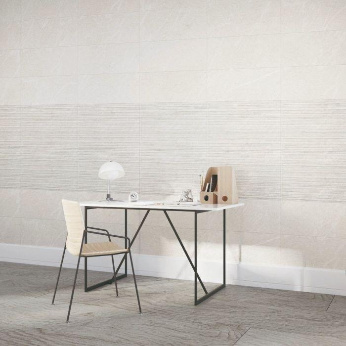 Atrium Kios Gris Glazed Porcelain Floor Tile: Hoxton Gris Linear Glazed Porcelain
