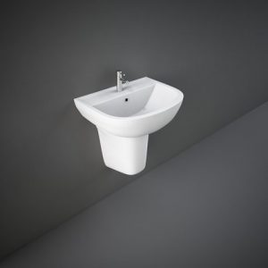 rak compact 55cm basin with half ped