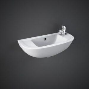 rak compact cloakroom basin