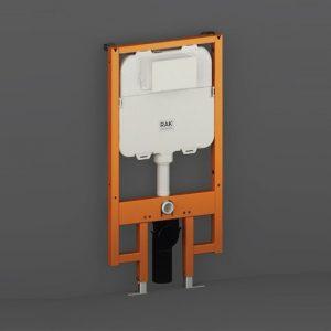 rak ecofix slimline cistern & frame 8cm