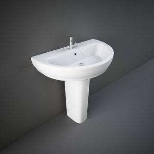 rak moon 80cm basin & full ped