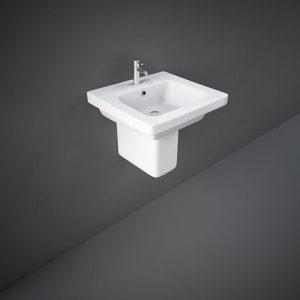 rak resort 50cm basin with half ped
