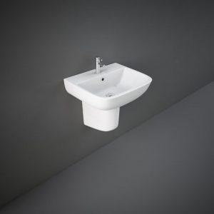 rak series 52cm basin half ped