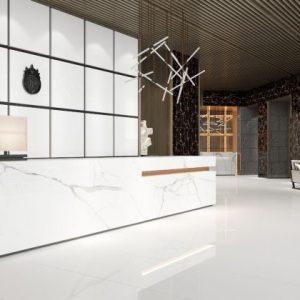 space white glazed porcelain 600x600mm