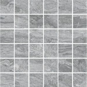 valstein dark grey mosaic 50x50mm