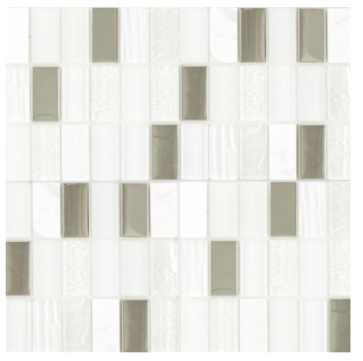 Waxman Ceramics Cities Mosaic White 295mm X 295mm The Cornwall