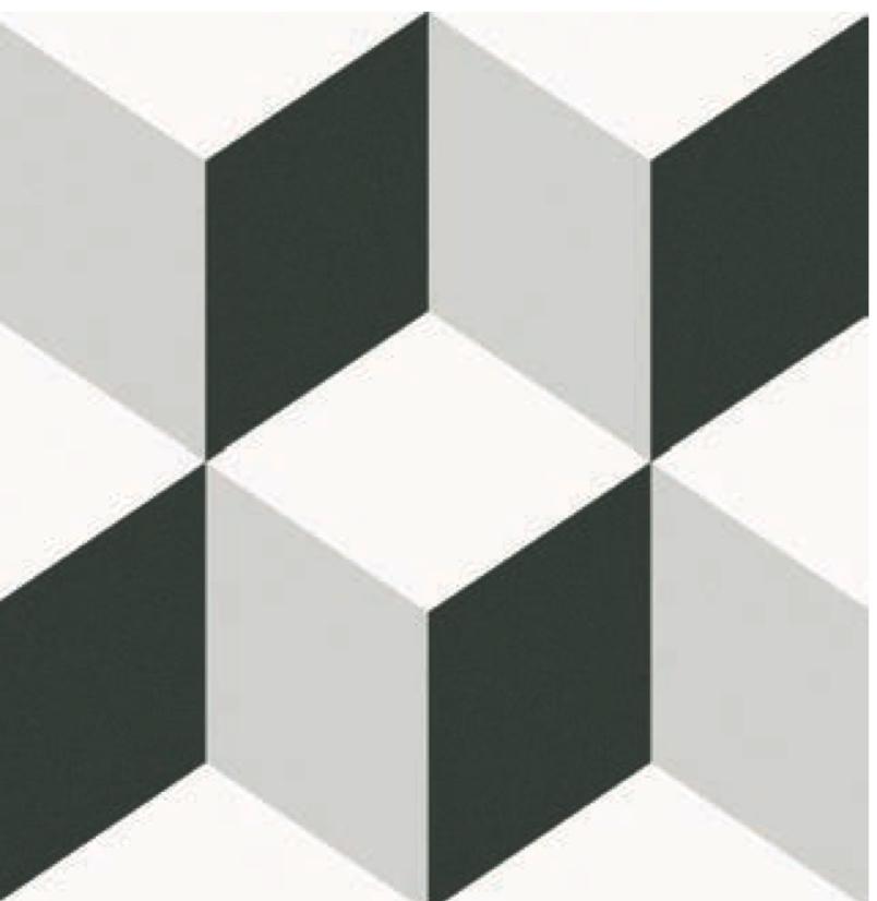 Waxman Ceramics Barcelona Cube Decor 250mm X 250mm X 8mm The