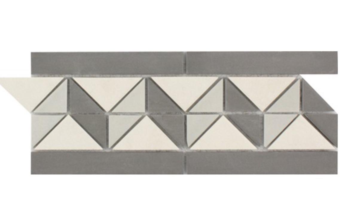 Waxman Ceramics Geo Mosaic – Cambridge Border GEO-452 112mm x 272mm