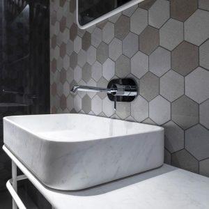 world hexagon texture